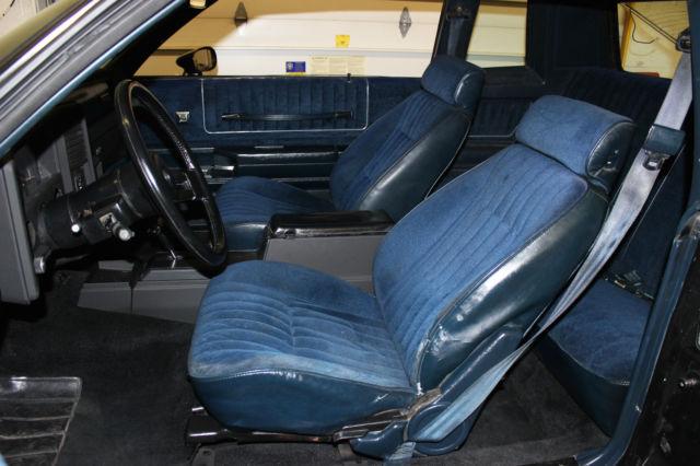 1985 chevrolet monte carlo ss aerocoupe frame off satin black dark blue interior for sale in