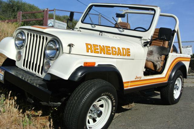 1985 jeep cj7 renegade 33k mile 100 original w all accessories 1 owner car for sale in los. Black Bedroom Furniture Sets. Home Design Ideas