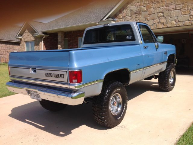 1985 k10 swb chevy silverado 350 4x4 complete restoration unbelievable for sale in spring. Black Bedroom Furniture Sets. Home Design Ideas