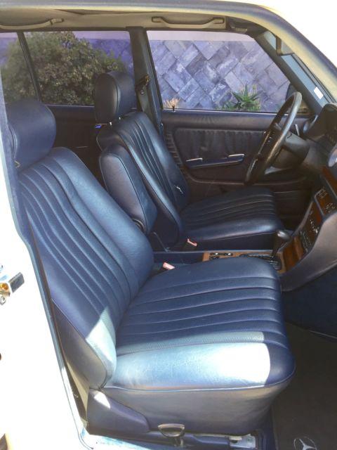 1985 mercedes benz 300td wagon white w blue interior. Black Bedroom Furniture Sets. Home Design Ideas