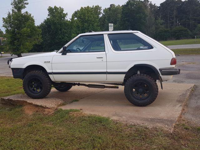"1985 Subaru GL Hatchback 4 wheel drive 4"" lift kit 55,992 ..."