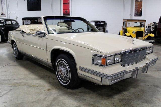 1986 cadillac deville 38854 miles cotillion white convertible 4 1l v8 automatic for sale photos technical specifications description classiccardb com
