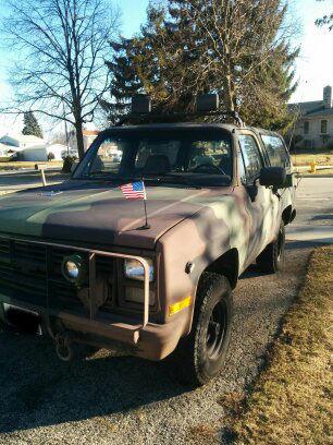 1986 CHEVY CUCV 6 2 diesel K5 m1009 for sale: photos