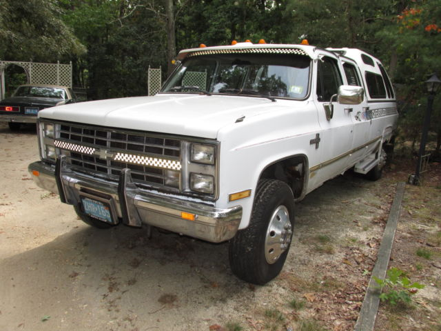 1986 chevy k30 1 ton 4x4 silverado crew cab special nascr edition for sale in millville. Black Bedroom Furniture Sets. Home Design Ideas