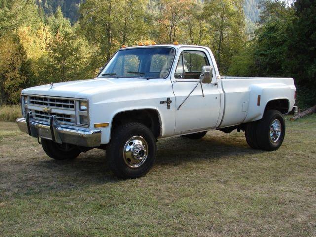 1986 Chevy K30, 4x4 1 ton pickup truck Dually Diesel, GMC ...