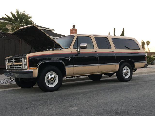 1986 Chevy Suburban Rust Free Only 53K Miles 454 3/4 Ton Silverado NO RESERVE!!