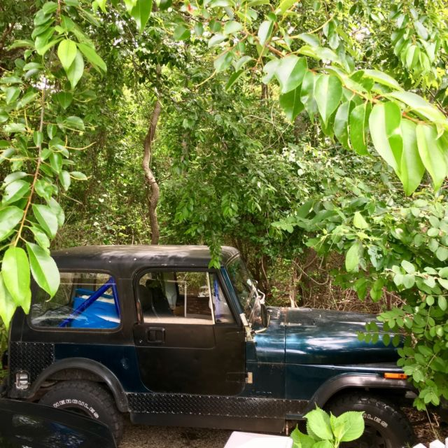 1986 Cj-7 v8 small block 350 turbo 400 tranny roll cage lift