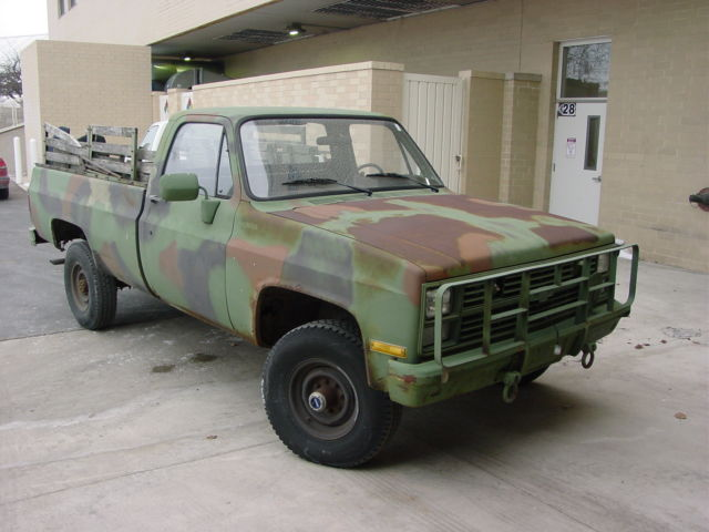 1986 Diesel Chevy 4x4 K10 Camo Pickup Truck 6 2l V8 No Reserve  For Sale In Racine  Wisconsin