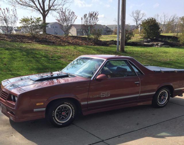 1986 El Camino Ss Choo Choo Zero Rust 78 000 Miles Very