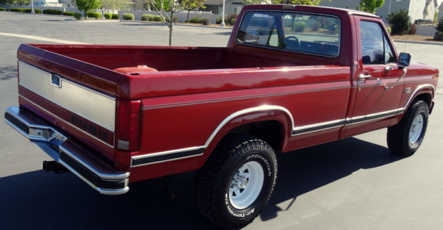 1986 f150 xlt lariat 4x4 automatic original paint for. Black Bedroom Furniture Sets. Home Design Ideas