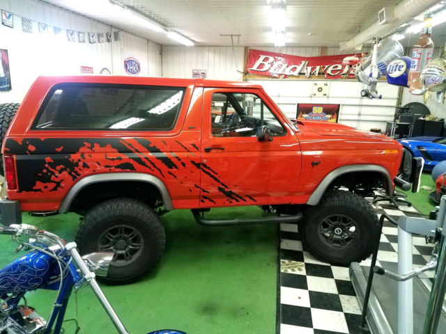 1986 Ford Bronco Raptor Crossover Custom Lifted Restored Molton Orange