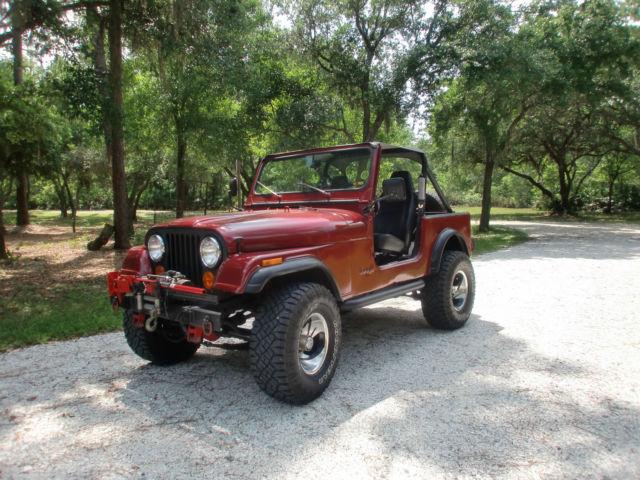 1986 jeep cj7 widetrac for sale in myakka city  florida