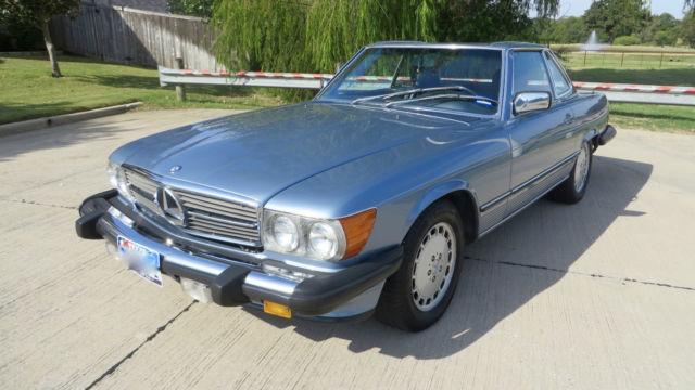 1986 mercedes benz 560sl base convertible 2 door 5 6l blue for Mercedes benz hardtop convertible for sale