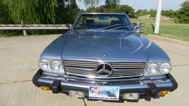 1986 mercedes benz 560sl base convertible 2 door 5 6l blue for How much is a mercedes benz oil change