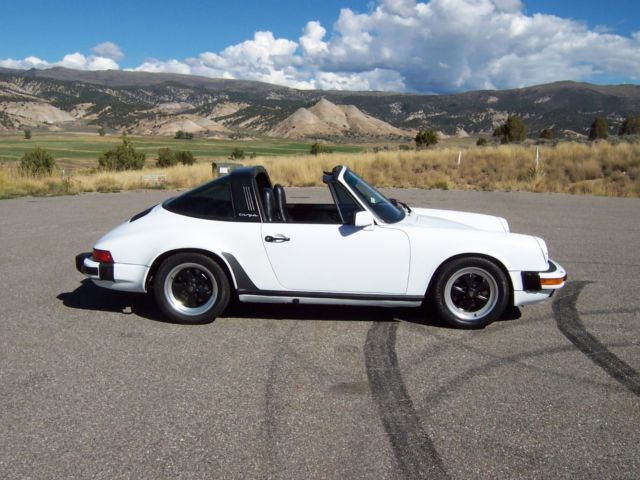 1986 Porsche 911 Carrera Targa Power Leather Sport Seats White Black 125k Mile For Sale In Eagle Colorado United States For Sale Photos Technical Specifications Description