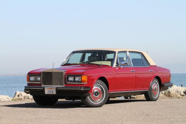 1986 Rolls Royce Silver Spur Claret Red 26k Original Miles