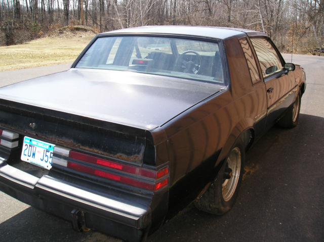 1987 Buick Regal Grand National Barn Find Project For Sale