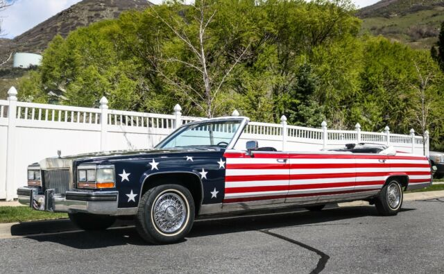 Cadillac Brougham Limousine American Flag Paint Limo Fleetwood Parade Nr