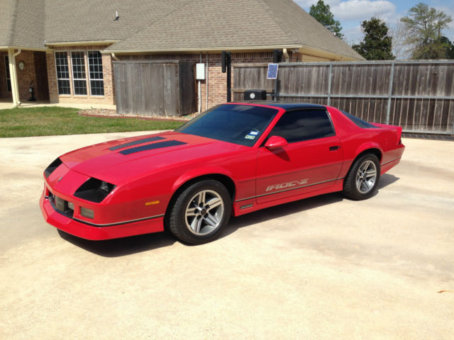 1987 chevrolet camaro iroc z 350 l 98 fully loaded all. Black Bedroom Furniture Sets. Home Design Ideas