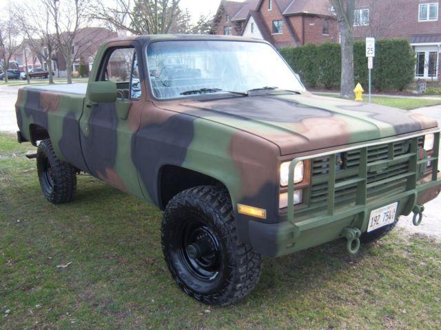 1987 Chevrolet Cucv M1008 Military Pickup Truck For Sale