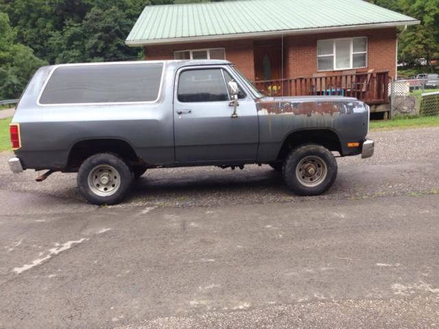 1987 dodge ramcharger 4x4 318 automatic parts project mud