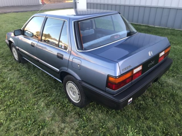 1987 Honda Civic Sedan 52 000 Original Miles  Yes  52 000
