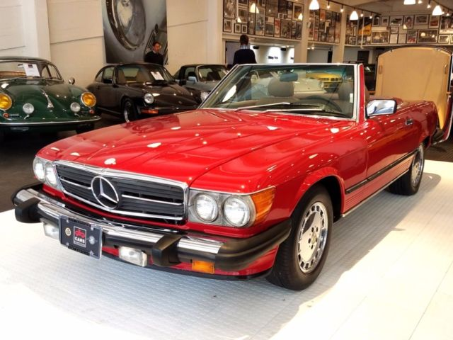 1987 mercedes benz 560 class 560sl 104 365 miles red for Mercedes benz red convertible