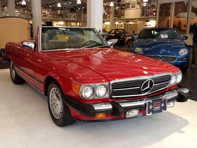1987 mercedes benz 560 class 560sl 104 365 miles red for 1987 mercedes benz 560sl value