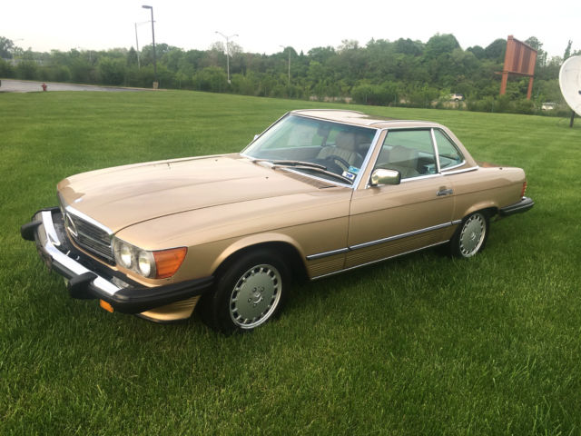 1987 mercedes benz 560sl 24k miles champagne metallic over for 1987 mercedes benz 560sl value