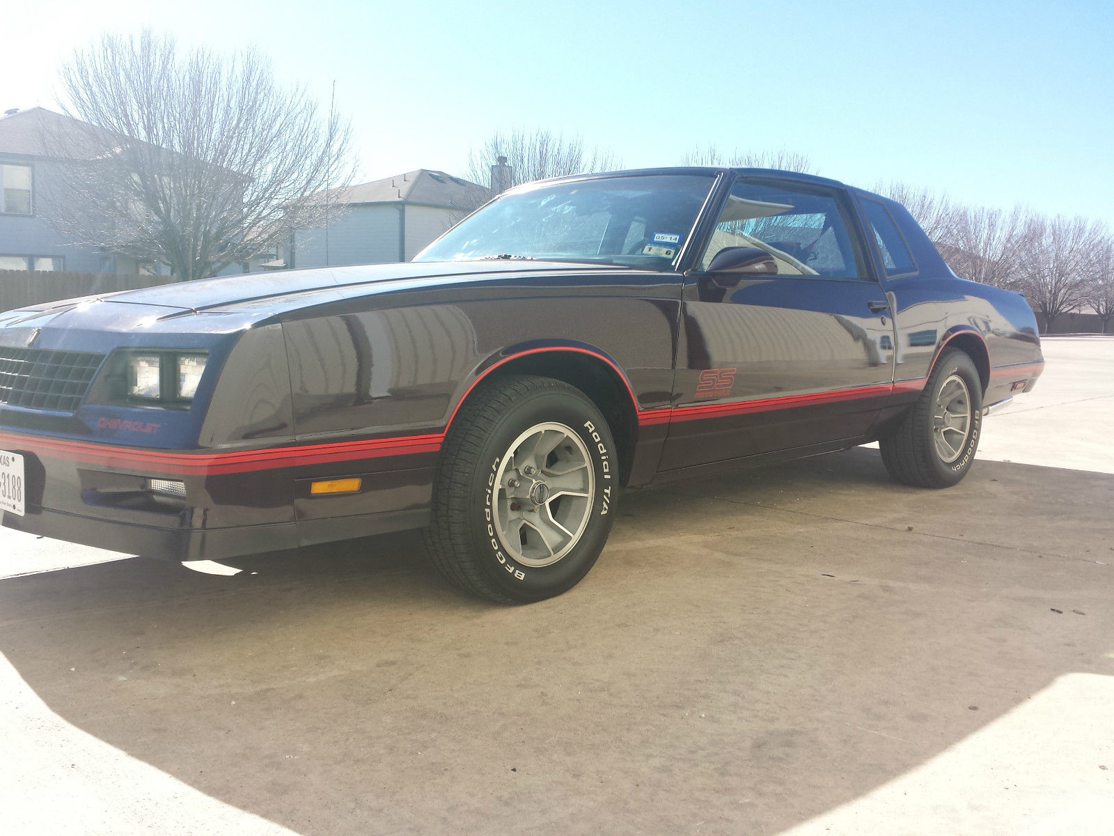 1987 monte carlo ss in like new condiyion 15k miles. Black Bedroom Furniture Sets. Home Design Ideas