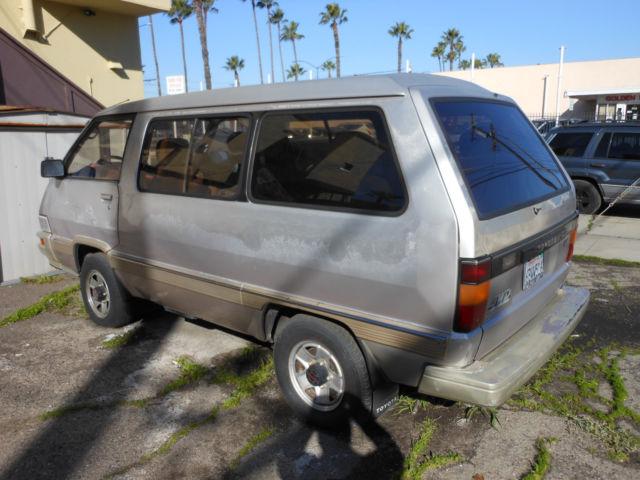 1987 Toyota Van 4x4 Auto W 239k Not Running Good For
