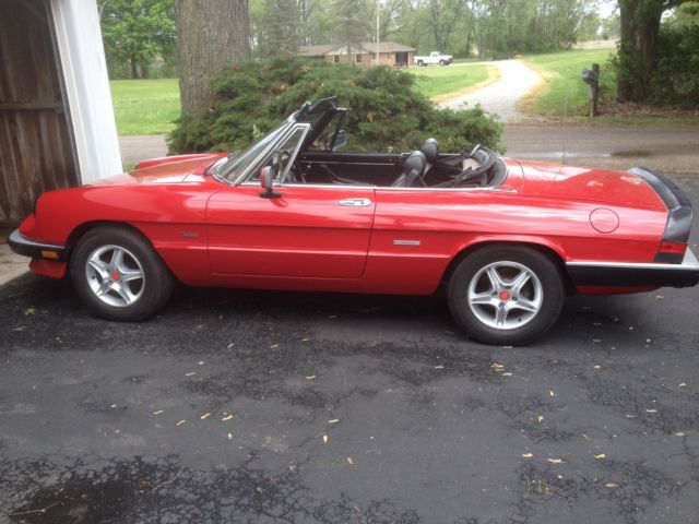 1988 alfa romeo spider graduate convertible 2 door 2 0l for sale in morristown indiana united. Black Bedroom Furniture Sets. Home Design Ideas