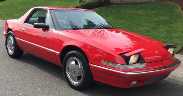1988 buick reatta coupe 2 door 38l red w extra wheels factory 1988 buick reatta publicscrutiny Images