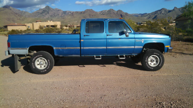 1988 chevy 1 ton crew cab 4x4 v30 for sale in las cruces new mexico united states. Black Bedroom Furniture Sets. Home Design Ideas