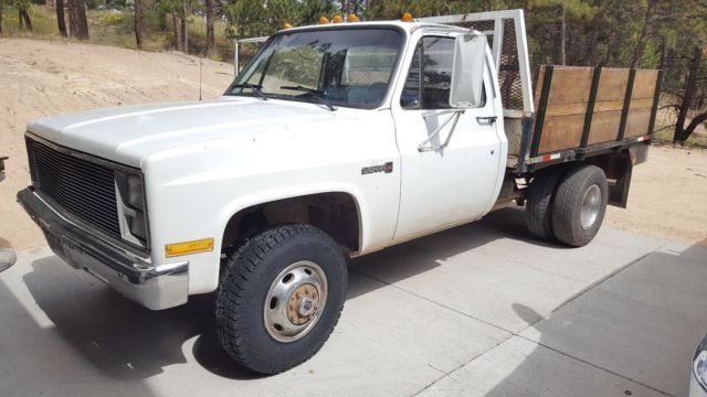 1988 Gmc Chevy 3500 4x4 Dually Squarebody Flatbed With Hidden