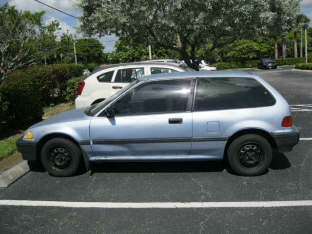 1988 Honda Civic EF Hatchback 1.5 Liter Manual 4-Speed Blue Classic Car Lo Miles