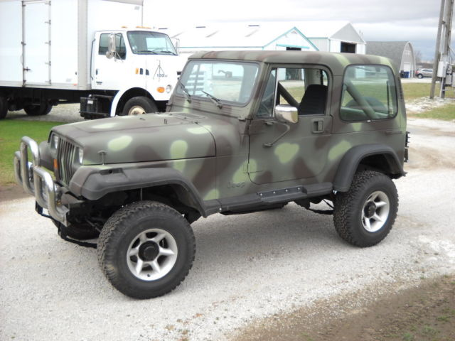 1988 Jeep Wrangler Camo For Sale Photos Technical