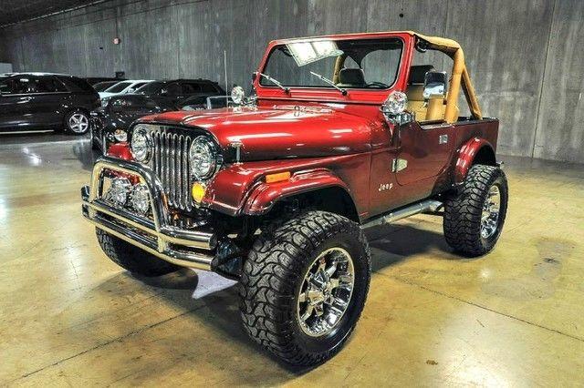 Jeep Wrangler Custom Electric Red Metallic Wagon Manual