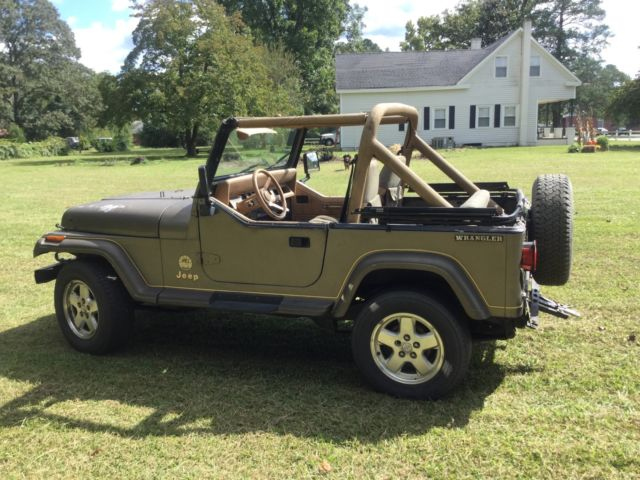 1988 jeep wrangler sahara yj 95k miles southern jeep runs good see video. Black Bedroom Furniture Sets. Home Design Ideas