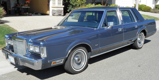 1988 Lincoln Town Car Blue Int Ext Leather Roof For Sale In