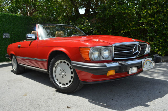 1988 mercedes benz sl 560sl convertible not s class 380sl 450sl 280sl 500sl amg. Black Bedroom Furniture Sets. Home Design Ideas