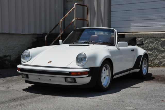 1988 porsche 911 cabriolet widebody g50 grand prix white w. Black Bedroom Furniture Sets. Home Design Ideas
