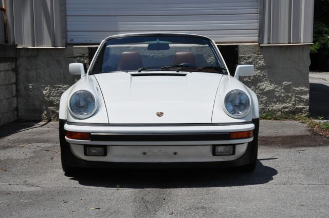 1988 porsche 911 cabriolet widebody g50 grand prix white w mahogany fresh 3 2. Black Bedroom Furniture Sets. Home Design Ideas