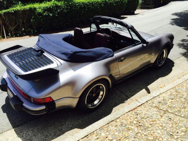 1988 Porsche 930 Turbo Cabriolet, original owner, Diamond Blue Metallic for sale in San