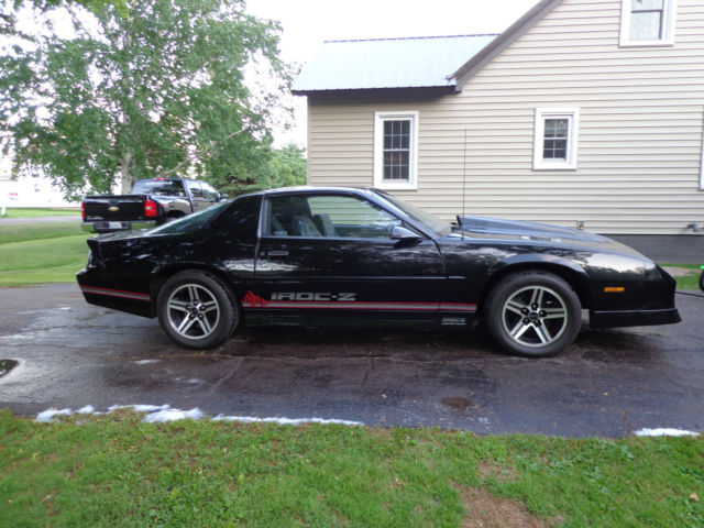 1989 Camaro Iroc Z 350 Black T Tops New Tires New