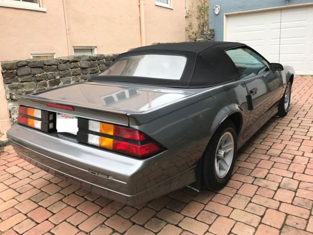 1989 camaro rs convertible for sale good condition. Black Bedroom Furniture Sets. Home Design Ideas