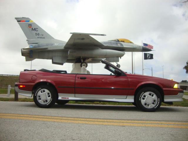 1989 Chevrolet Cavalier Z24 Convertible 2Door 28L for sale in