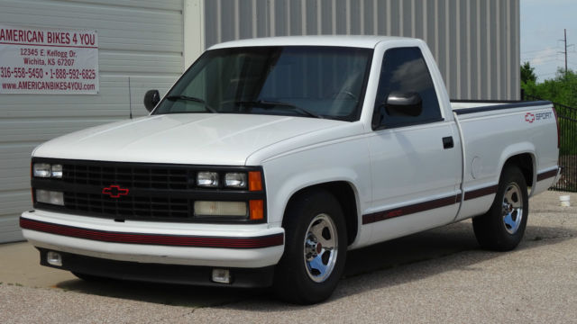 1989 chevrolet chevy shortbed sport truck pickup low mileage not gmc for sale in wichita kansas. Black Bedroom Furniture Sets. Home Design Ideas