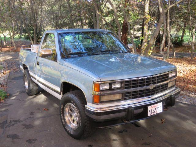 Best Truck Floor Mats >> 1989 Chevrolet Silverado K1500 Z71 4X4, blue over white ...