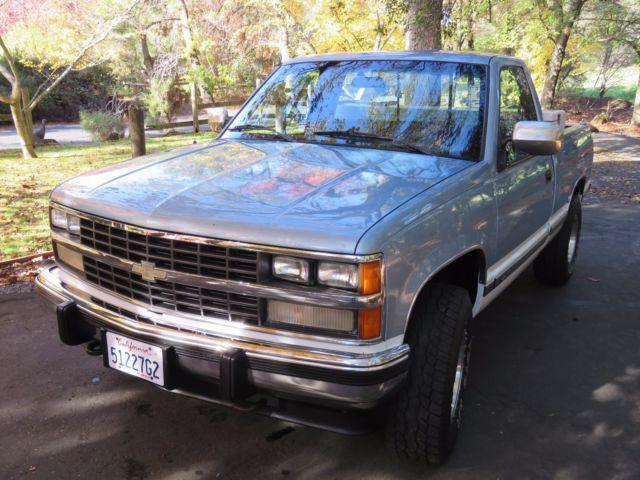 1989 Chevrolet Silverado K1500 Z71 4x4  Blue Over White  Recent New Engine For Sale  Photos